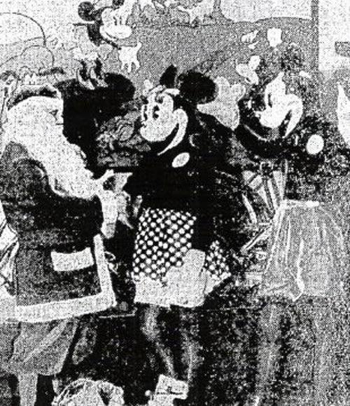 1934年のミッキーミニー