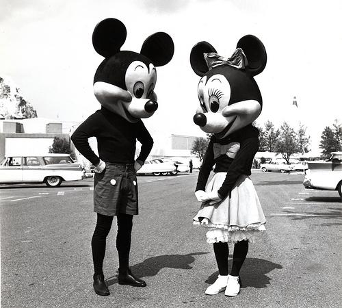 1950年のミッキーとミニー