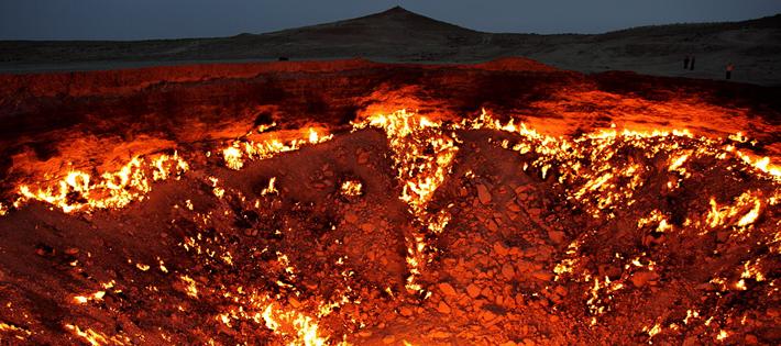 40年間燃え続ける地獄の門ダルヴァザ!