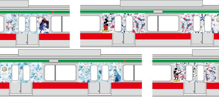 【東急田園都市線】ミッキーのラッピング電車