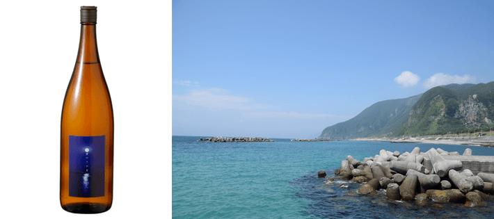 新島米焼酎「波の上の月」