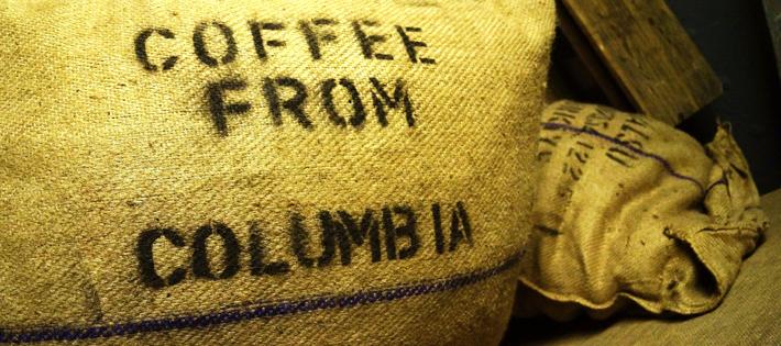 コロンビアのコーヒー豆