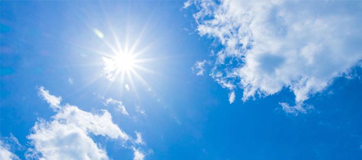 太陽を浴びる事も立派な風邪予防!